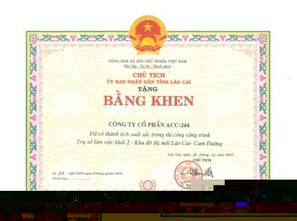 bang khen Lao cai 1