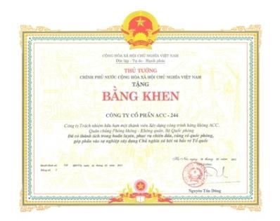 bang khen thu tuong chinh phu